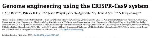 Genome engineering using the CRISPR-Cas9 system